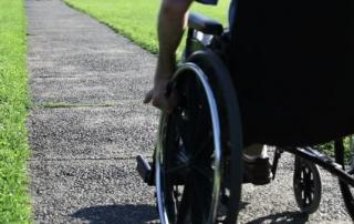 wheel-chair-on-sidewalk